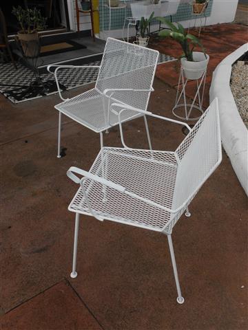 Mid Century Metal Outdoor Chairs C 60s Fabiano